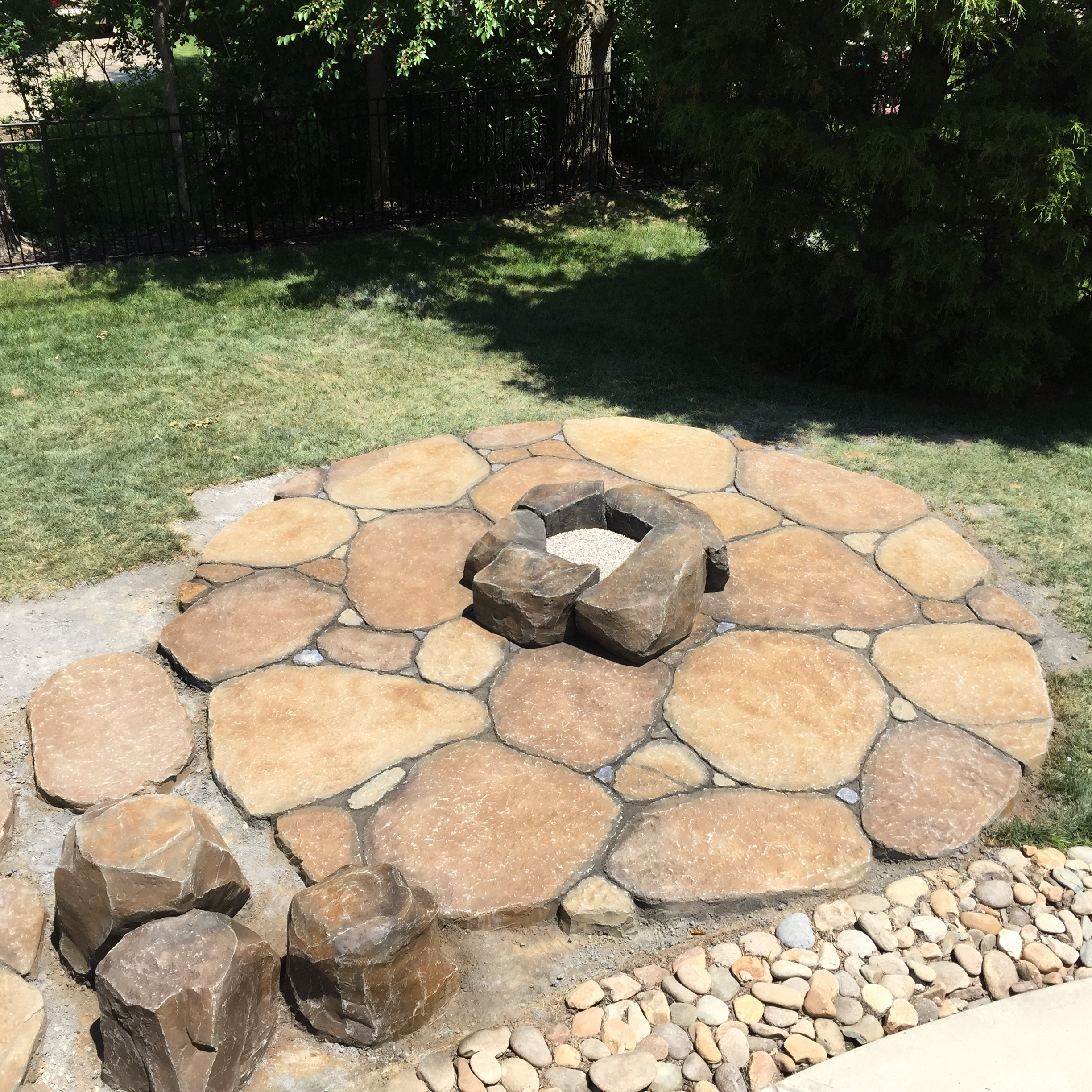 Decorative concrete firepits