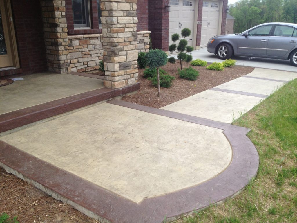 Driveways, sidewalks, patios, etc.